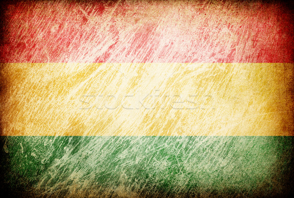 Grunge rubbed flag series of backgrounds. Bolivia. Stock photo © pashabo