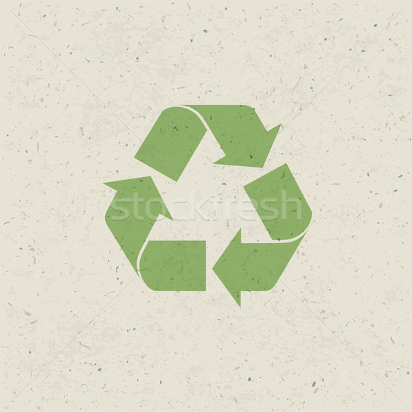 Recycled symbol on paper texture. Design set, Vector Stock photo © pashabo