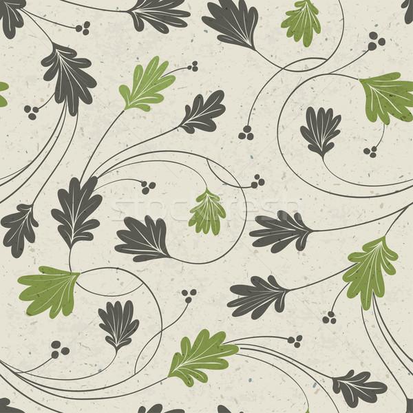 Сток-фото: дуб · листьев · стилизованный · вектора · текстуры