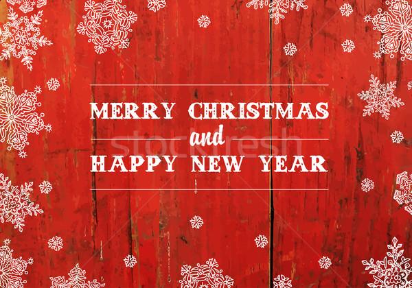 Joyeux Noël accueil rouge texture Photo stock © pashabo