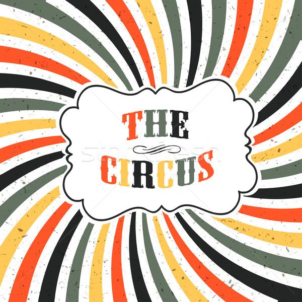 Circo retro poster raggi vettore Foto d'archivio © pashabo