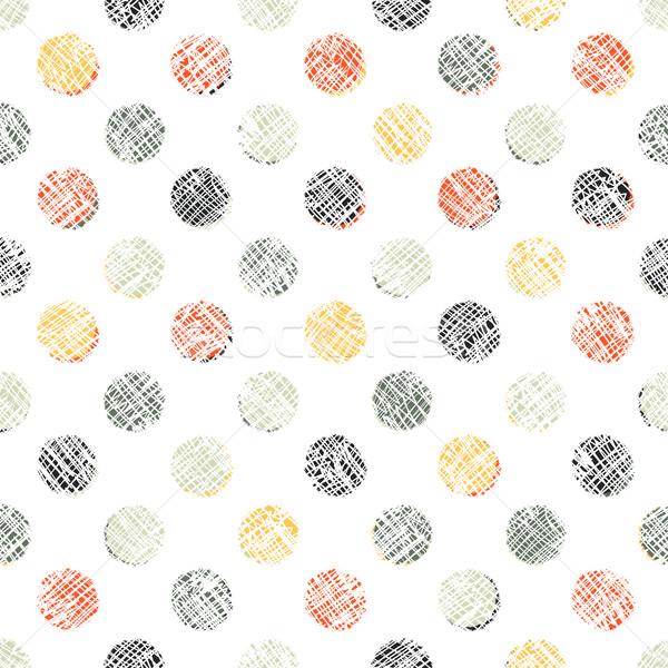 Seamless Polka Dot Pattern Textured Stock photo © pashabo