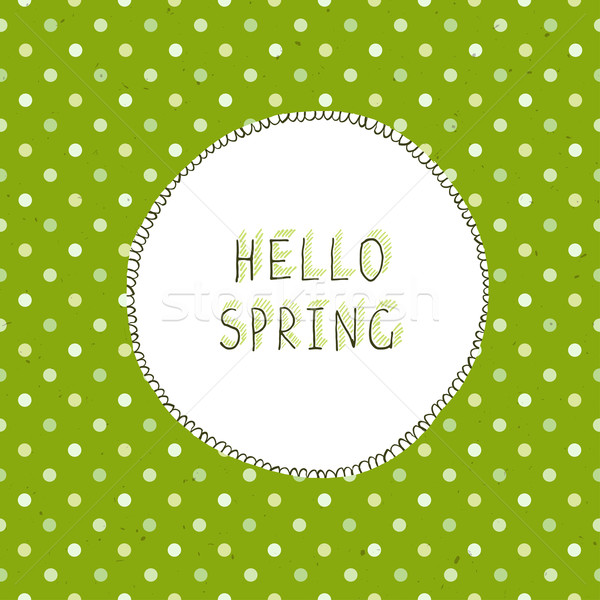 Easter label and Green Textured Polka Dot Stock photo © pashabo