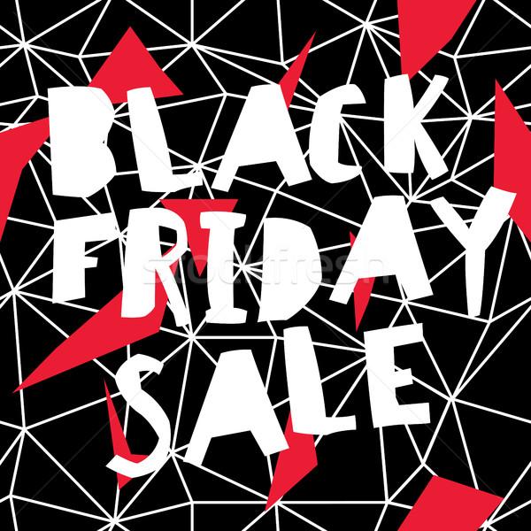 Big Sale. Black Friday Sale Poster Stock photo © pashabo