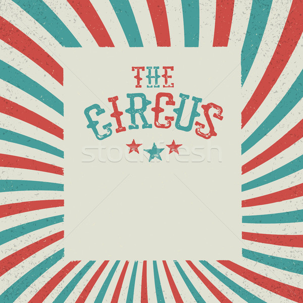 Vintage Circus Festival Background. Red and green radiate rays.W Stock photo © pashabo