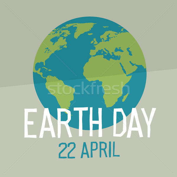 Earth day poster design in flat style. Similar world map backgro Stock photo © pashabo