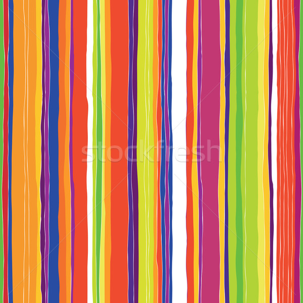 Abstract colorful stripes pattern. Seamless hand-drawn lines vec Stock photo © pashabo