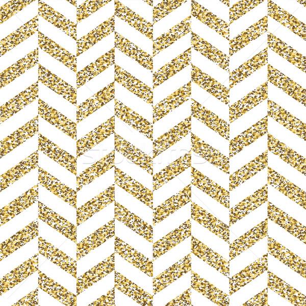 Seamless chevron pattern. Glittering golden surface Stock photo © pashabo