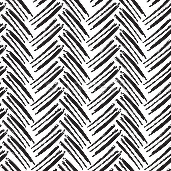 Monocromático vetor padrão pintado projeto Foto stock © pashabo