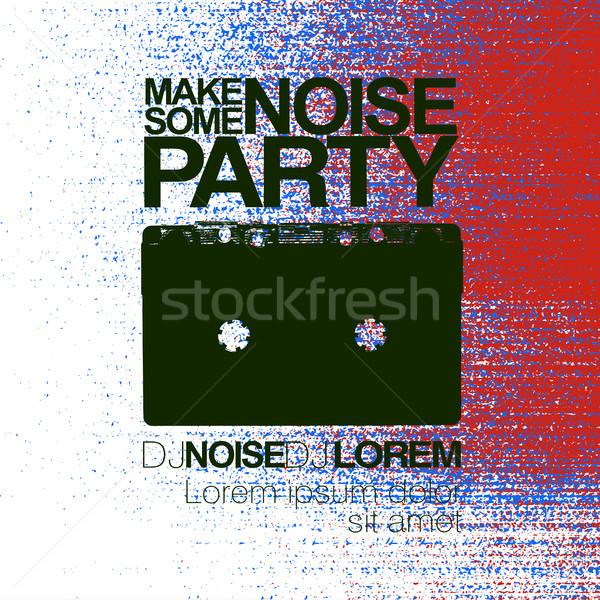 Bruit nuit fête flyer rouge Photo stock © pashabo