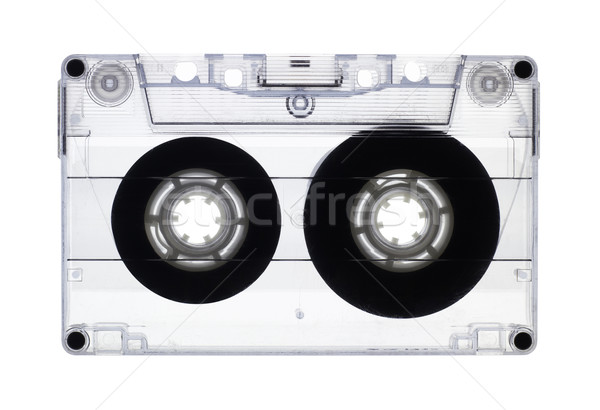 Transparent old audio cassette isolated on white, with clipping  Stock photo © pashabo