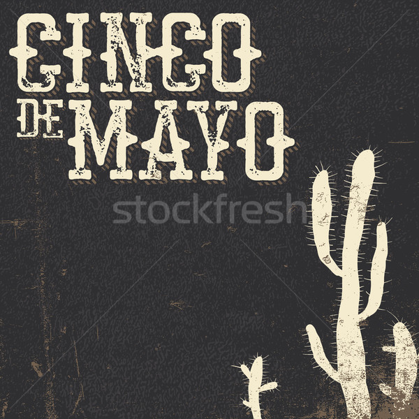Cinco de Mayo vector illustration. 5 of May holiday vector. Cinc Stock photo © pashabo