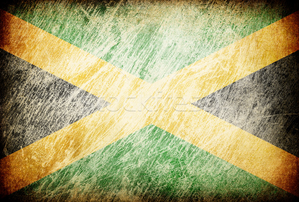 Grunge rubbed flag series of backgrounds. Jamaica. Stock photo © pashabo