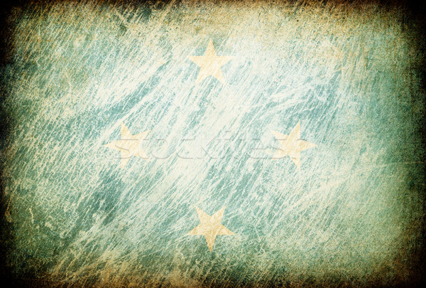 Grunge bandeira fundos Micronésia textura digital Foto stock © pashabo