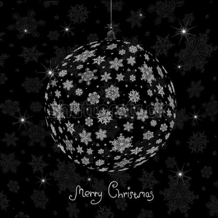 Christmas ball silhouette. Vector illustration, EPS8 Stock photo © pashabo