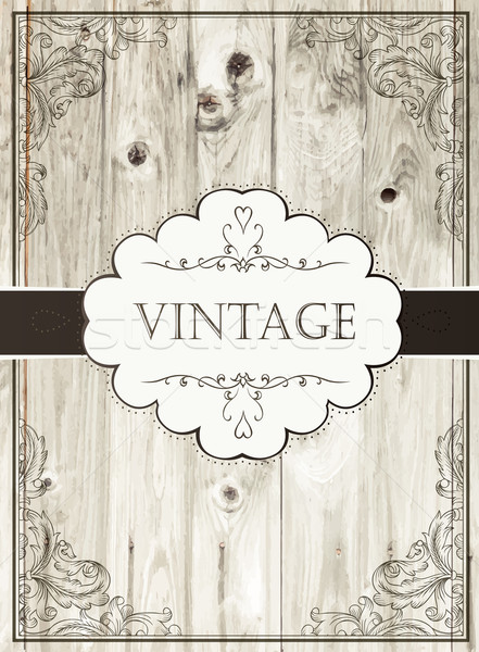 Vintage card template Stock photo © pashabo