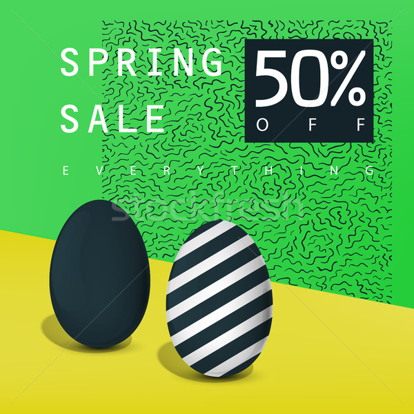 Primavera venta anunciante placa publicidad tarjeta Foto stock © pashabo