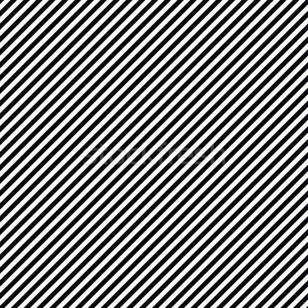 Diagonal lines seamless black and white pattern. Repeat straight Stock photo © pashabo