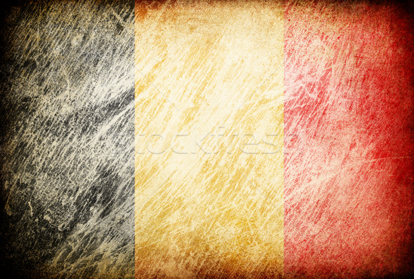 Grunge rubbed flag series of backgrounds. Belgium. Stock photo © pashabo