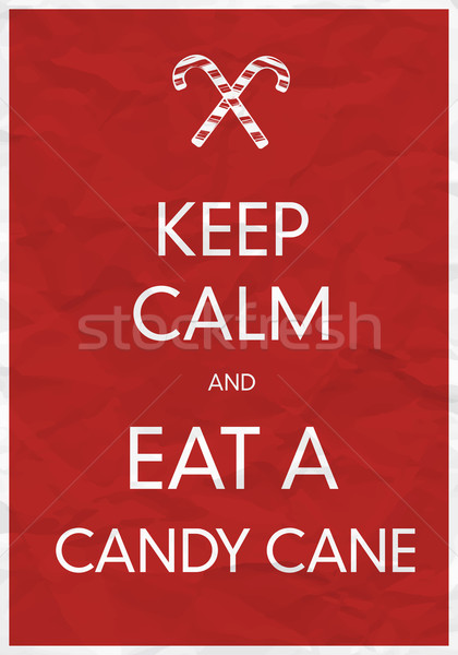 Keep Calm And Eat a Candy Cane Stock photo © pashabo