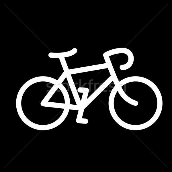 Minimalistic bicycle icon Stock photo © pashabo