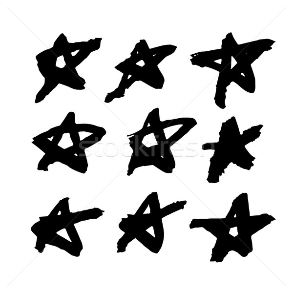 Sketchy grunge star shapes.  Stock photo © pashabo