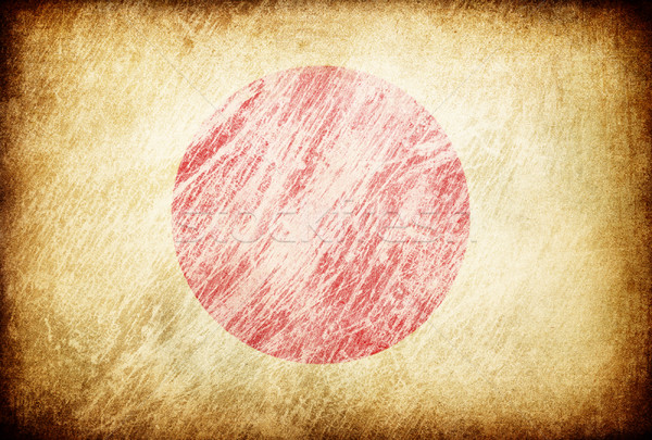 Grunge rubbed flag series of backgrounds. Japan. Stock photo © pashabo