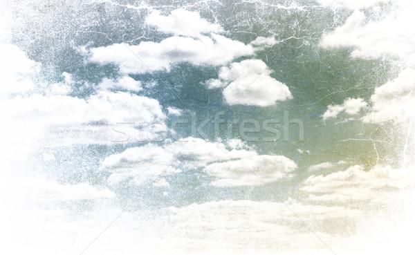 Calm sky. Photo in vintage image style. Stock photo © pashabo