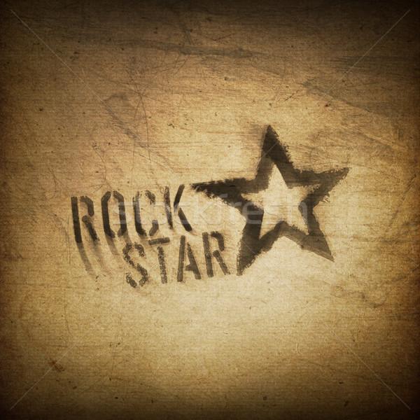 Estrela do rock grunge papel projeto arte concerto Foto stock © pashabo