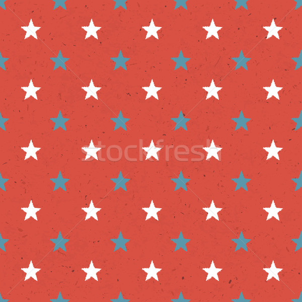 Seamless Stars Pattern On Red Paper Texture Stock photo © pashabo