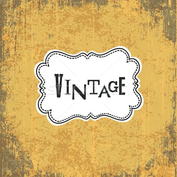 Foto stock: Sucio · vintage · amarillo · resumen · azul · retro