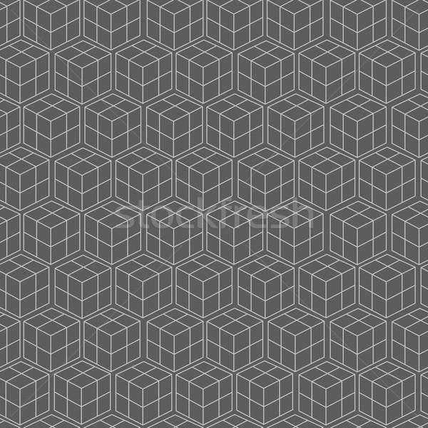 Bezszwowy geometryczny wzór streszczenie tle graficzne line Zdjęcia stock © pashabo