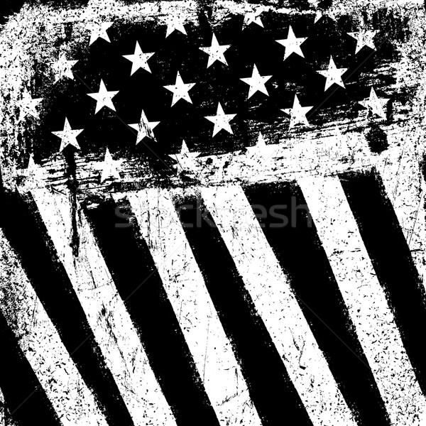 f870b64527ea American Flag Background. Grunge Aged Vector Template. Monochrom ...
