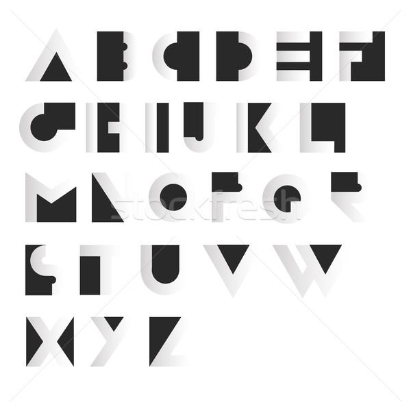 Meetkundig retro alfabet art deco stijl type Stockfoto © pashabo