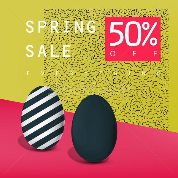 Сток-фото: весны · продажи · плакат · Знак · реклама · карт
