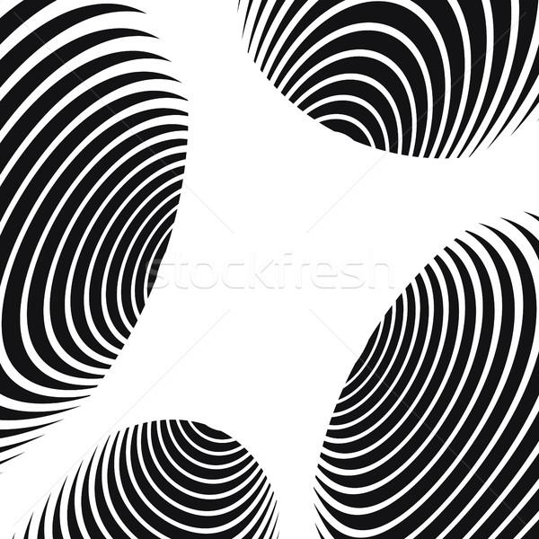 Zwart wit abstract spiraal tunnel textuur zwarte Stockfoto © pashabo