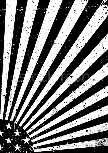 Black and white grunge United States of America flag. Abstract A Stock photo © pashabo