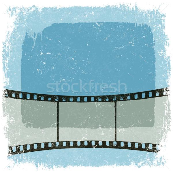 Grunge taśmy filmowej plakat wektora eps10 tekstury Zdjęcia stock © pashabo