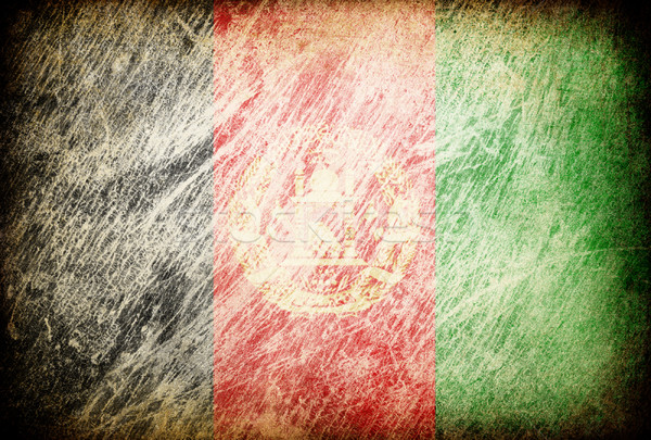 Grunge rubbed flag series of backgrounds. Afghanistan. Stock photo © pashabo