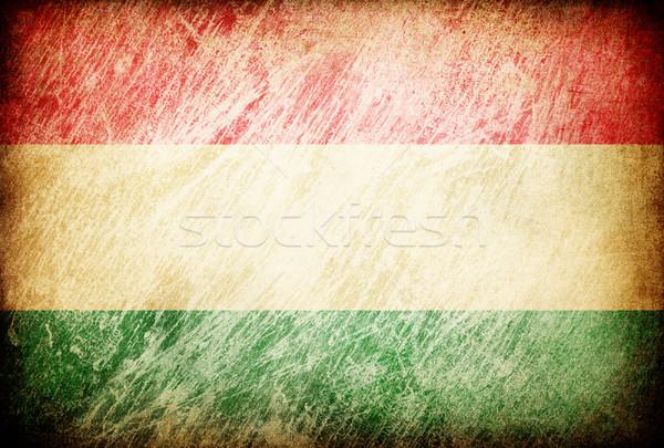 Grunge rubbed flag series of backgrounds. Hungary. Stock photo © pashabo