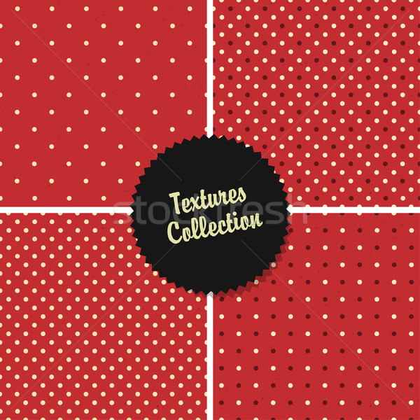 Classical Red Textured Polka Dot Seamless Different Patterns Col Stock photo © pashabo