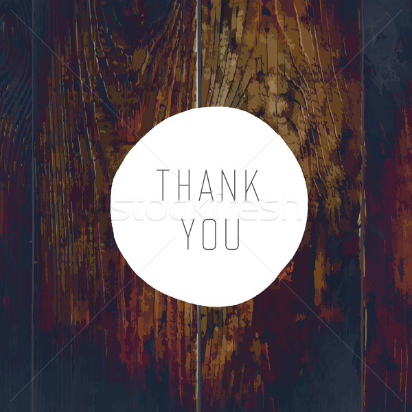 Thank You Card. On Wooden Texture with Cross Process Effect Stock photo © pashabo