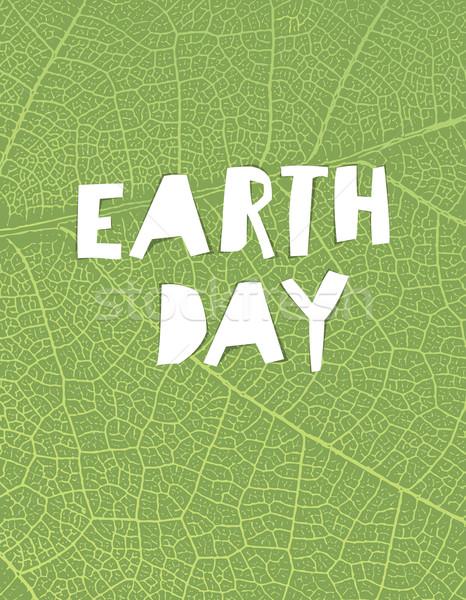 Natuur opschrift groen blad aderen textuur Stockfoto © pashabo