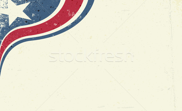 Grunge abstract America patriotic background. Star and red strip Stock photo © pashabo