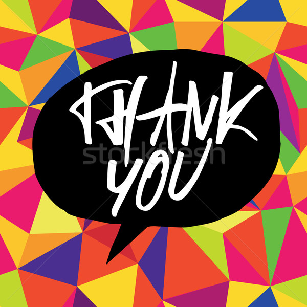 Thank you card colorful, vector Stock photo © pashabo
