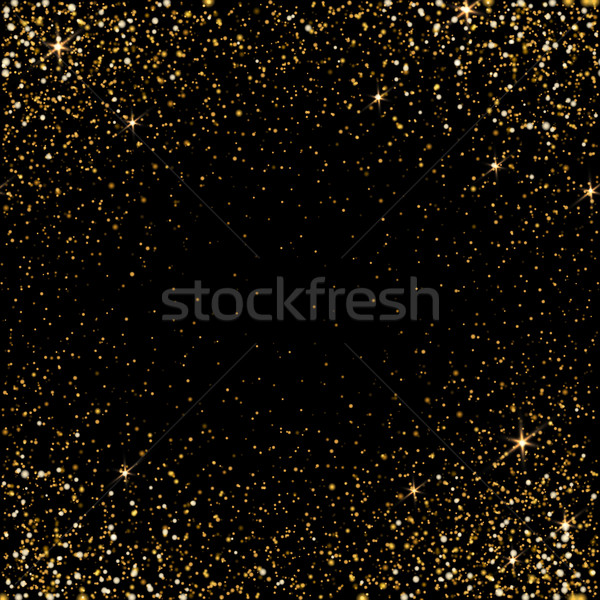 Golden light effect. Star burst light with golden sparkles. Boke Stock photo © pashabo