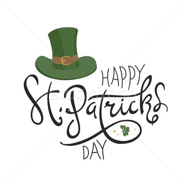 Happy Saint Patrick's Day logotype. Celebration design for March Stock photo © pashabo