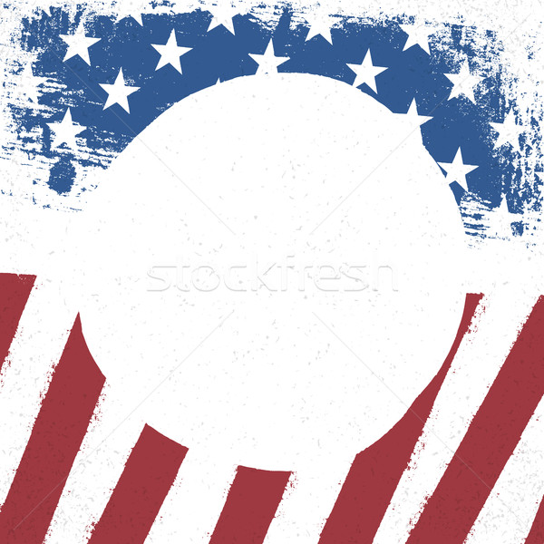 American flag patriotic background. US flag with  circle blank s Stock photo © pashabo