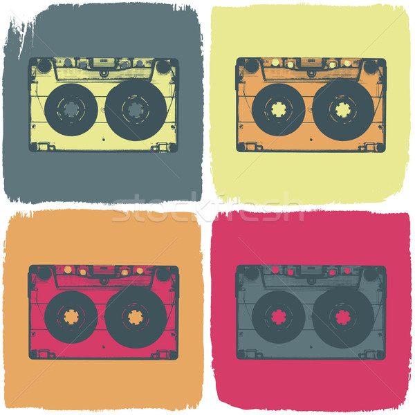 Audio cassette vector eps8 muziek abstract Stockfoto © pashabo