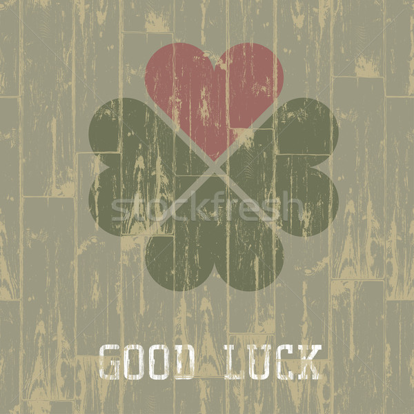 Good luck. St. Patrick's Day concept. Vector, EPS10. Stock photo © pashabo